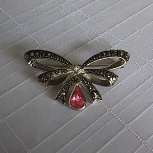 Vintage Avon October Birthstone Bow Pin